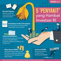 5 'Penyakit' yang Hambat Investasi RI