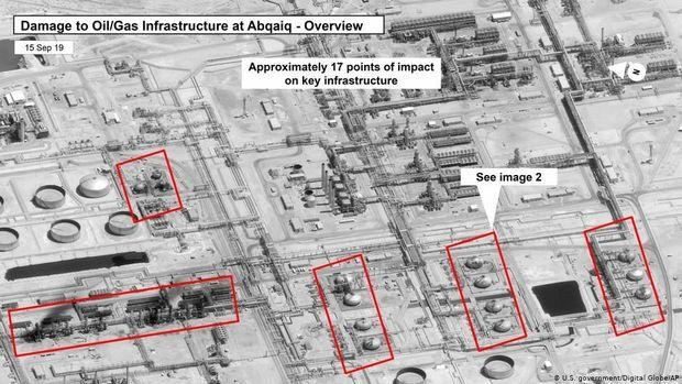 Lokasi kilang minyak Saudi yang diserang drone Houthi