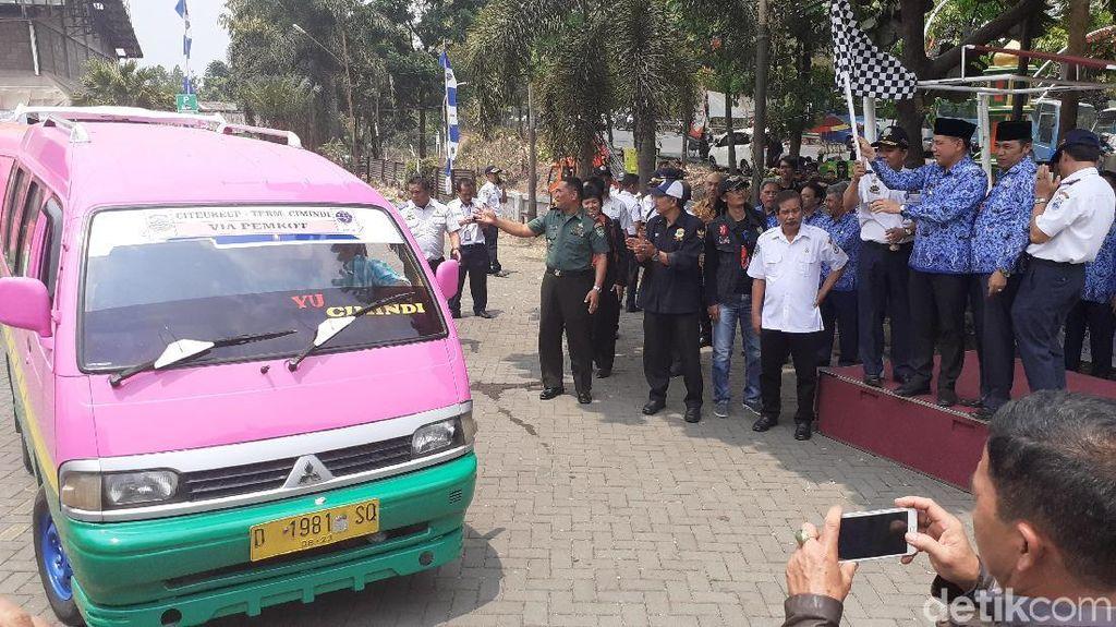 Angkot Citeureup-Cimindi dan Bus Kertajati Resmi Beroperasi di Cimahi