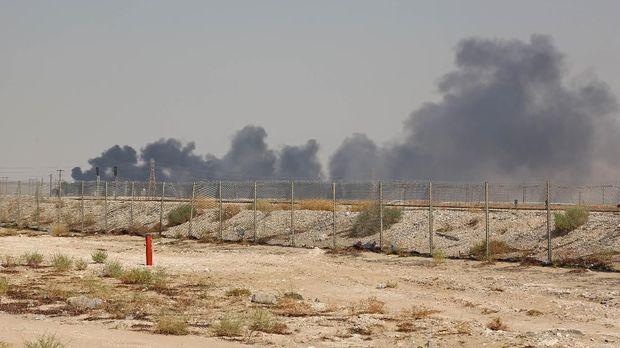 Kilang minyak Aramco diserang pada 14 September.