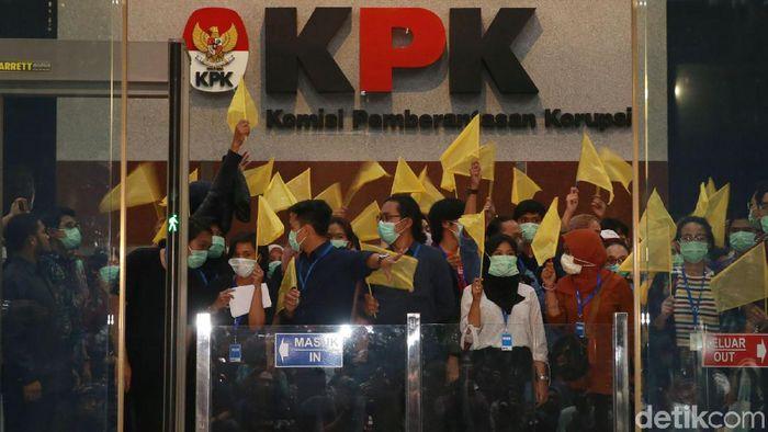 Demo pegawai KPK/Foto: Ari Saputra