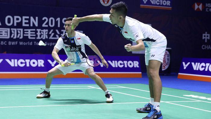 Fajar Alfian/Muhammad Rian Ardianto lolos ke babak kedua China Open 2019 (Foto: dok. Humas PBSI)