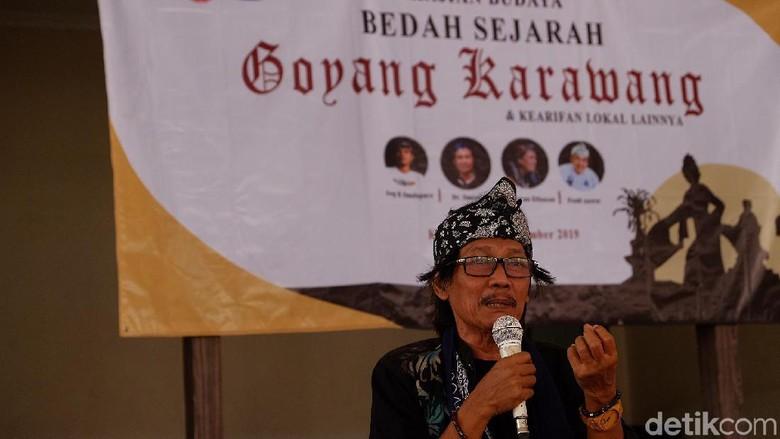 Budayawan Karawang, Herman El Fauzan (Luthfiana/detikcom)