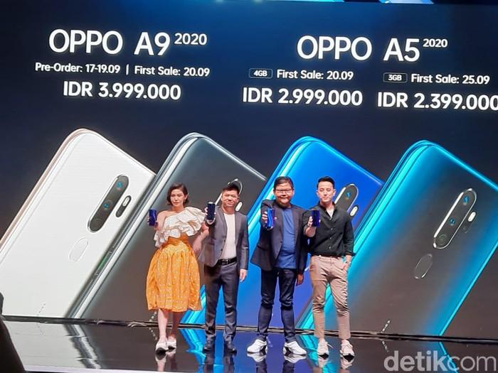 Peluncuran Oppo A9 2020 dan Oppo A5 2020. Foto: Adi Fida Rahman/detikINET