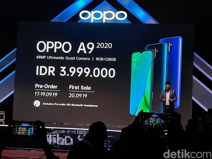 Oppo A9 2020. Foto: Adi Fida Rahman/detikinet