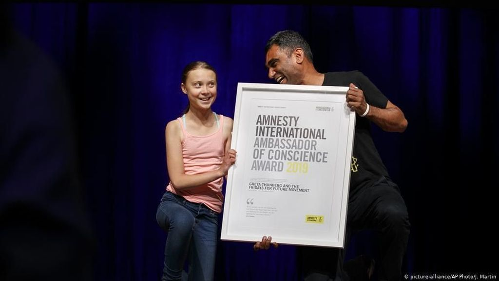 Penghargaan Amnesty International Untuk Aktivis Iklim Greta Thunberg