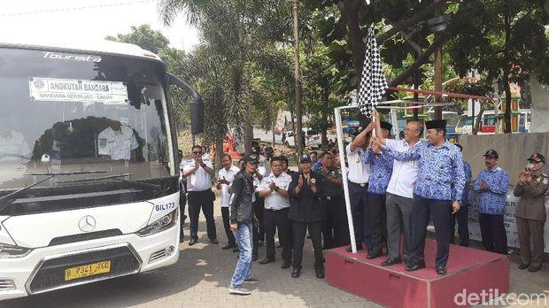 Angkot Citeurep-Cimindi dan Bus Kertajati Resmi Beroperasi di Cimahi