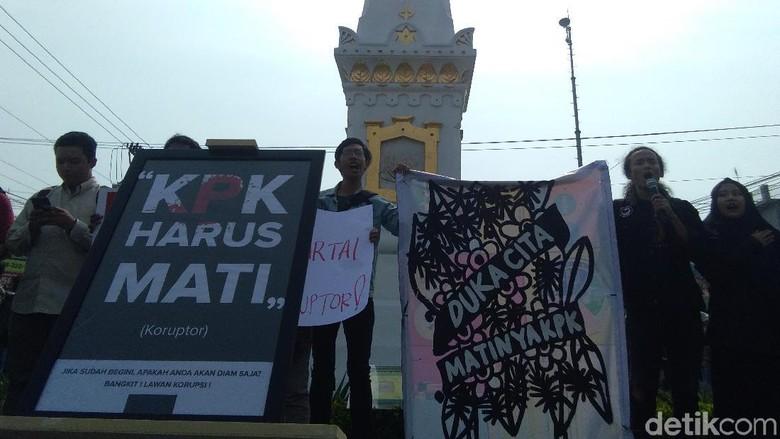 RUU KPK Disahkan, Aktivis Yogya: Jokowi Boneka Koruptor