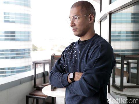 Marcell Siahaan saat berkunjung ke kantor detikcom.