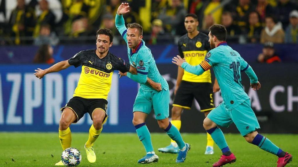 Serangan Balik Dortmund Bikin Barca Kesulitan