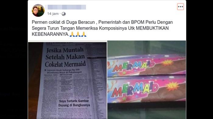 Cerita yang kembali dibagikan soal anak meninggal keracunan jajanan di Pekalongan. (Foto: Tangkapan layar Facebook)