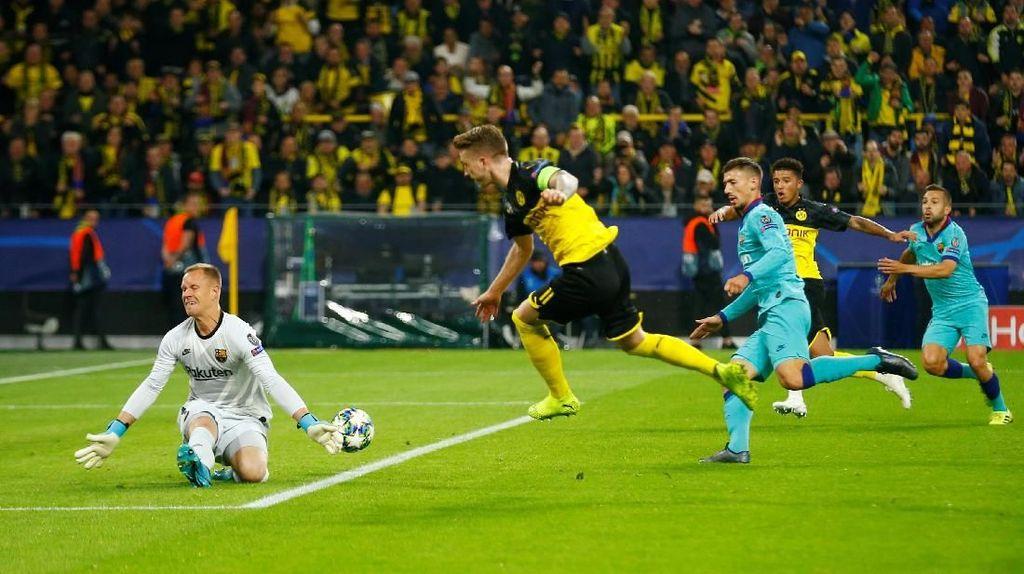 Sengit, Dortmund Vs Barca Tanpa Gol di Babak I