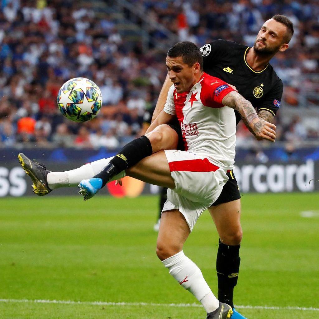 Inter Vs Slavia Sama Kuat di Babak Pertama