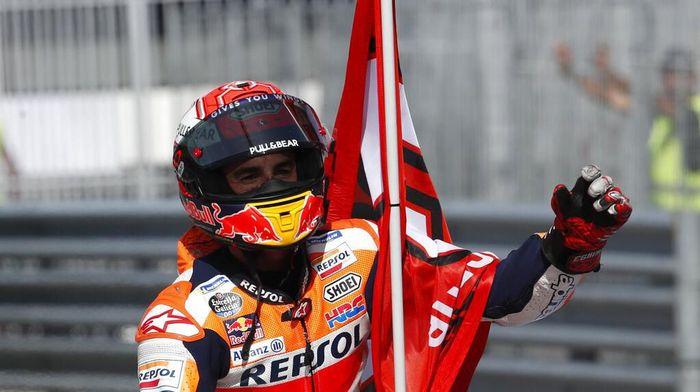 Marc Marquez memburu kemenangan kedelapan di MotoGP Aragon. (Foto: Antonio Calanni / AP Photo)