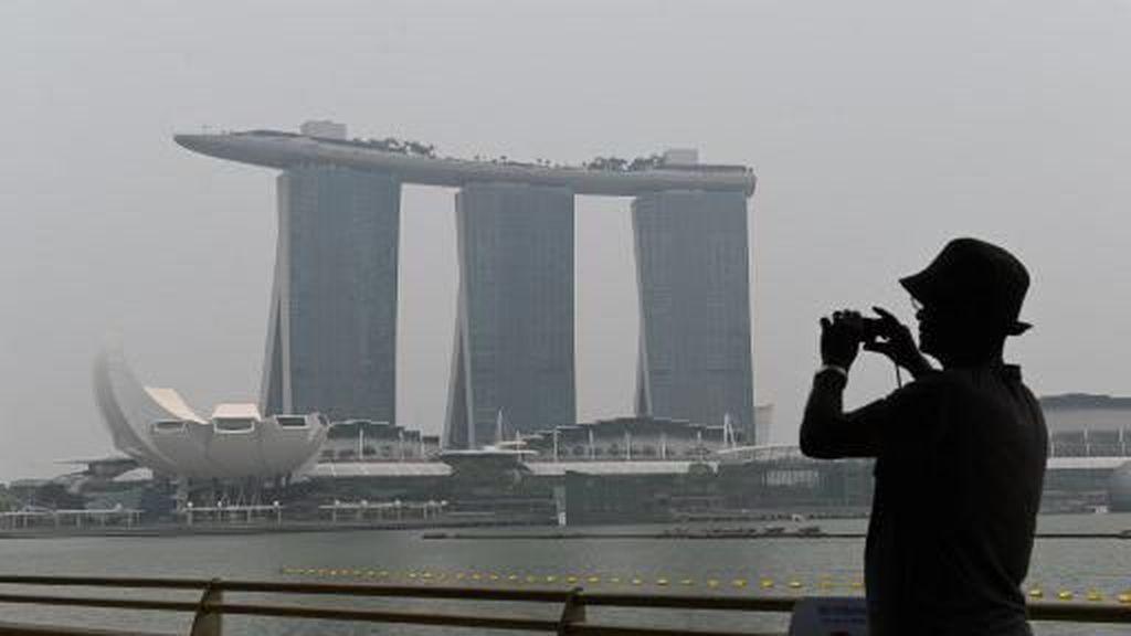 F1 Singapura Terancam Asap dari Indonesia, Begini Kondisi Kabut di Marina Bay Hari Ini