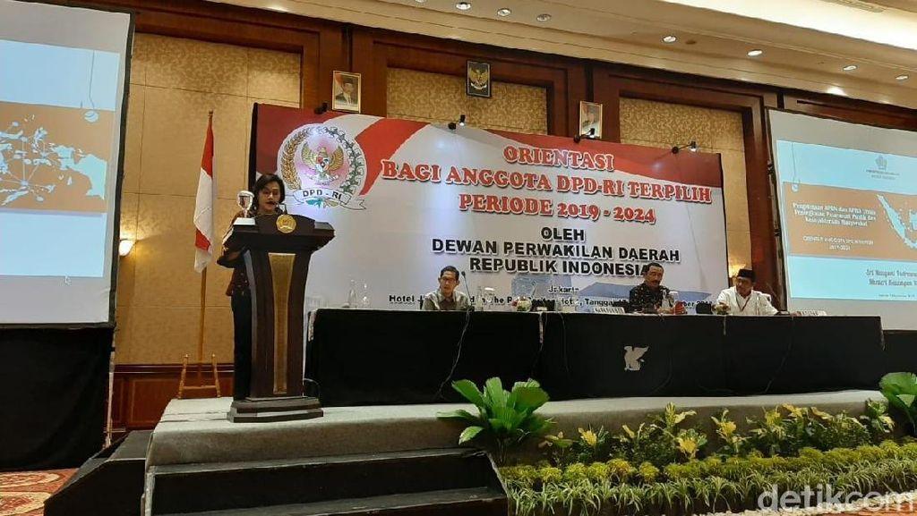 Di Depan Anggota DPD, Sri Mulyani Beberkan Ekonomi Dunia Tumbuh 3%