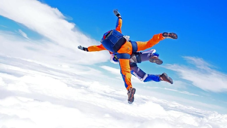 Ilustrasi Skydiving