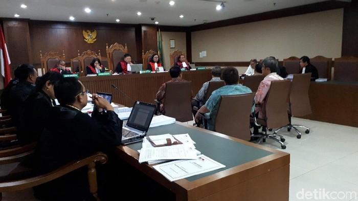 Sidang lanjutan kasus e-KTP di Pengadilan Tipikor, Rabu (18/9/2019). (Faiq Hidayat/detikcom)