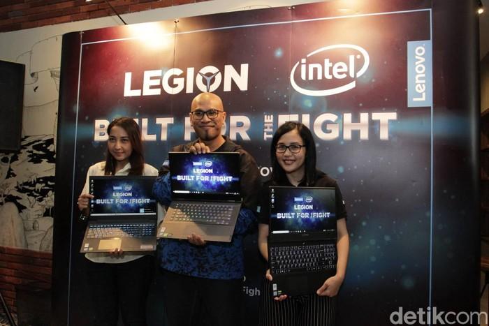 Peluncuran laptop gaming Lenovo. Foto: Titania Dewanti