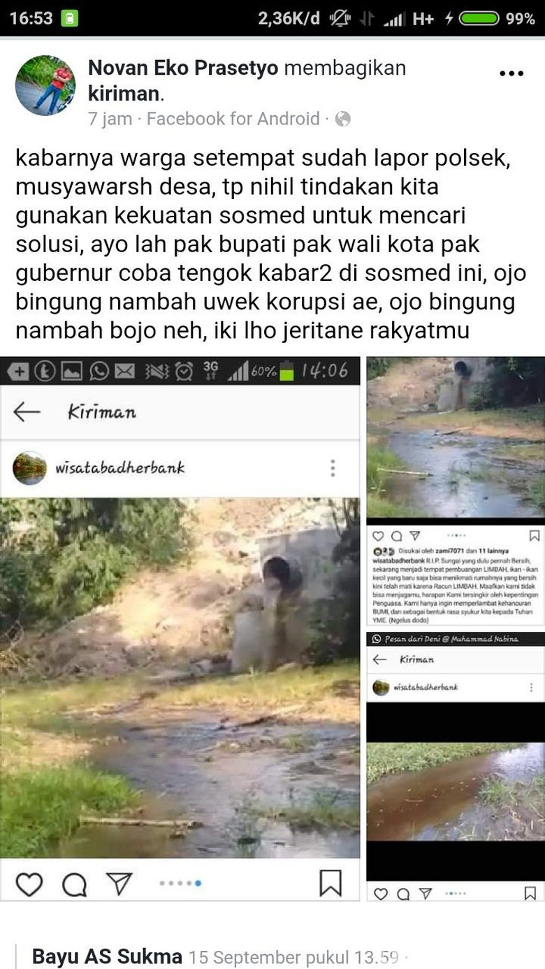 Viral Warga Blitar Keluhkan Sungai Lemon Diduga Tercemar Limbah Pabrik Gula
