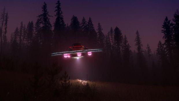 Ilustrasi UFO. (