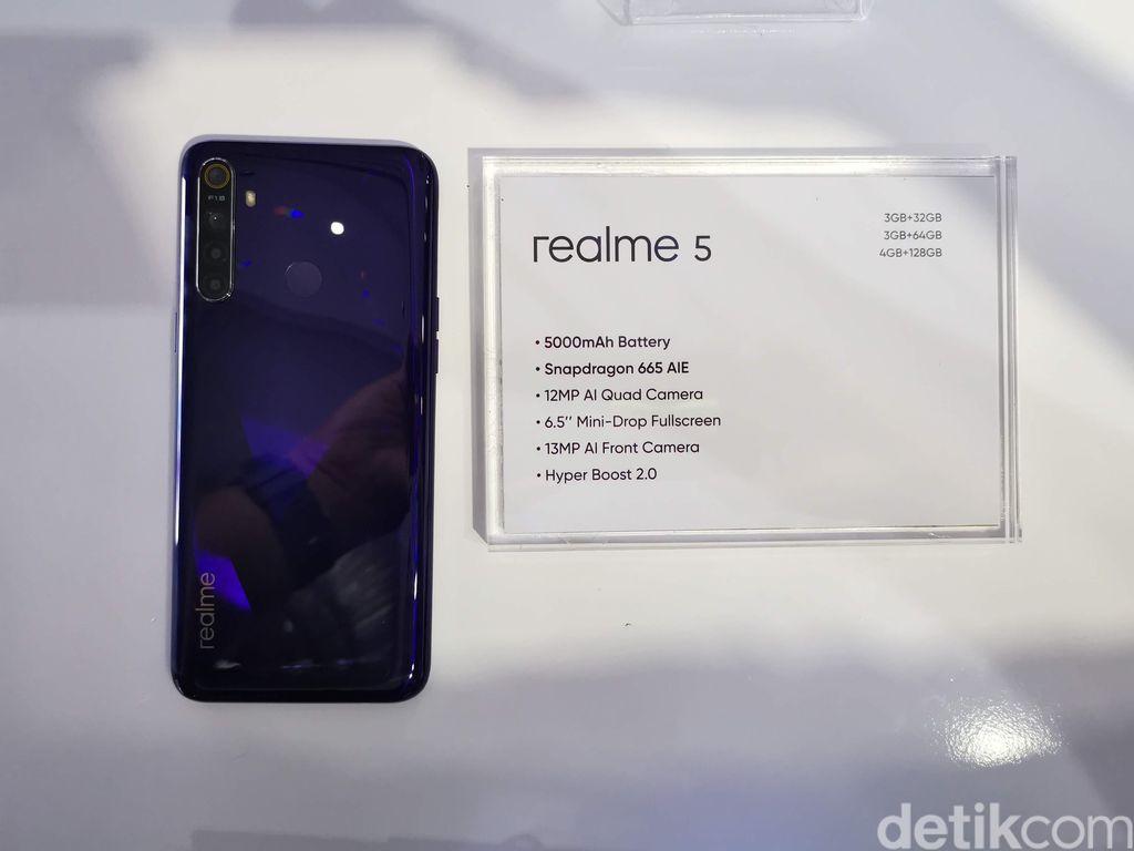 Realme 5 dibekali Snapdragon 655 dengan pabrikasi 11nm. Foto: detikINET/Anggoro Suryo Jati