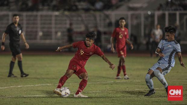 Ahmad Athallah Araihan mencetak empat gol ke gawang Kepulauan Mariana Utara. (