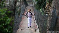 Begini Kondisi Jembatan Gantung Penghubung Depok-Jakarta