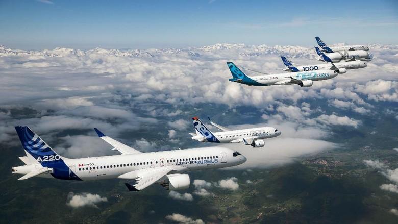 Ilustrasi pesawat komersial Airbus (Dok. Airbus)