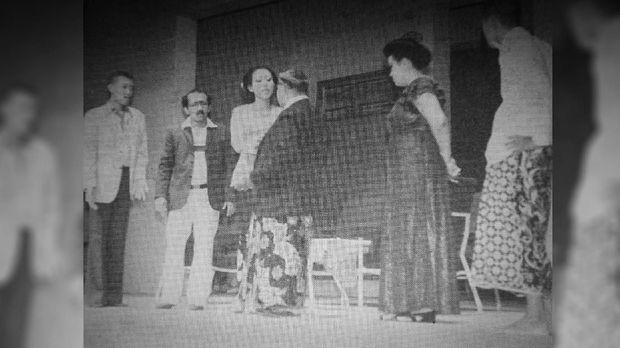 Gepeng (paling kiri) adalah pemain andalan Srimulat.