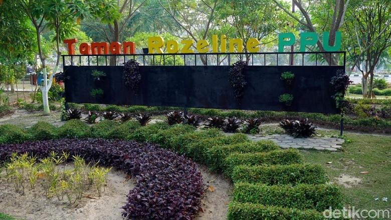 Taman Bunga Rozeline di Penajam Paser Utara (Foto: Wahyu Setyo Widodo/detikcom)