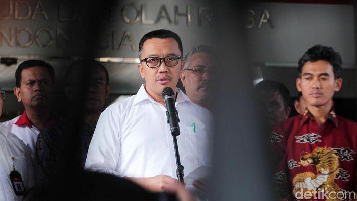 Menpora Imam Nahrawi mundur usai tersangkut kasus dana hibah KONI (Lamhot Aritonang)