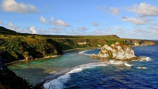 One of the most popular tourist destinations on Saipan, Northern Mariana Islands