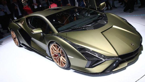 Lamborghini Sian diluncurkan di Frankfurt Motor Show, September 2019.