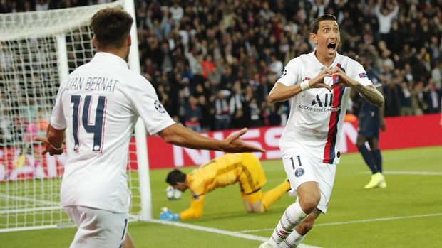 Real Madrid 'tersungkur' di markas PSG. (