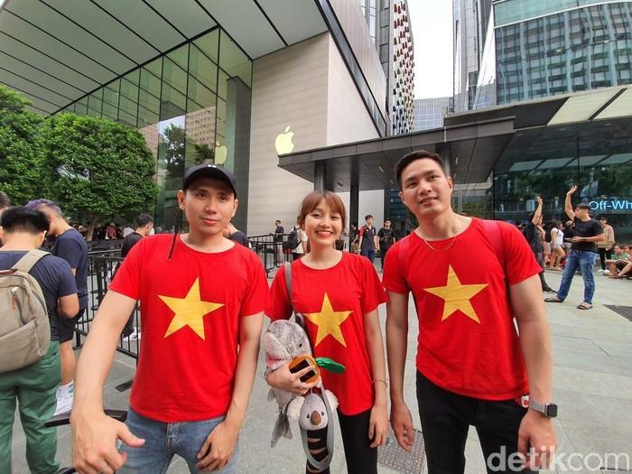 Trio Fanboy Apple asal Vietnam. Foto: Adi Fida Rahman/detikINET