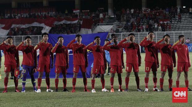 Timnas Indonesia U-16 kuasai puncak klasemen Grup G.