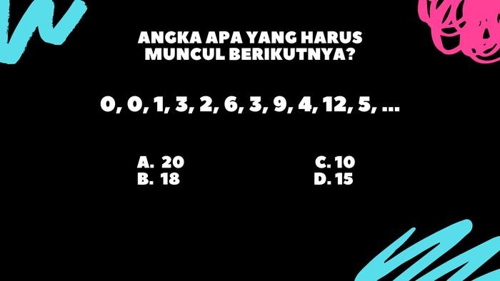 Perhatikan pola dari urutan bilangan. (Foto: detikHealth)