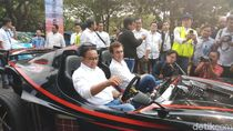 Sambut Formula E Jakarta 2020, Anies Konvoi Mobil Listrik ke Monas