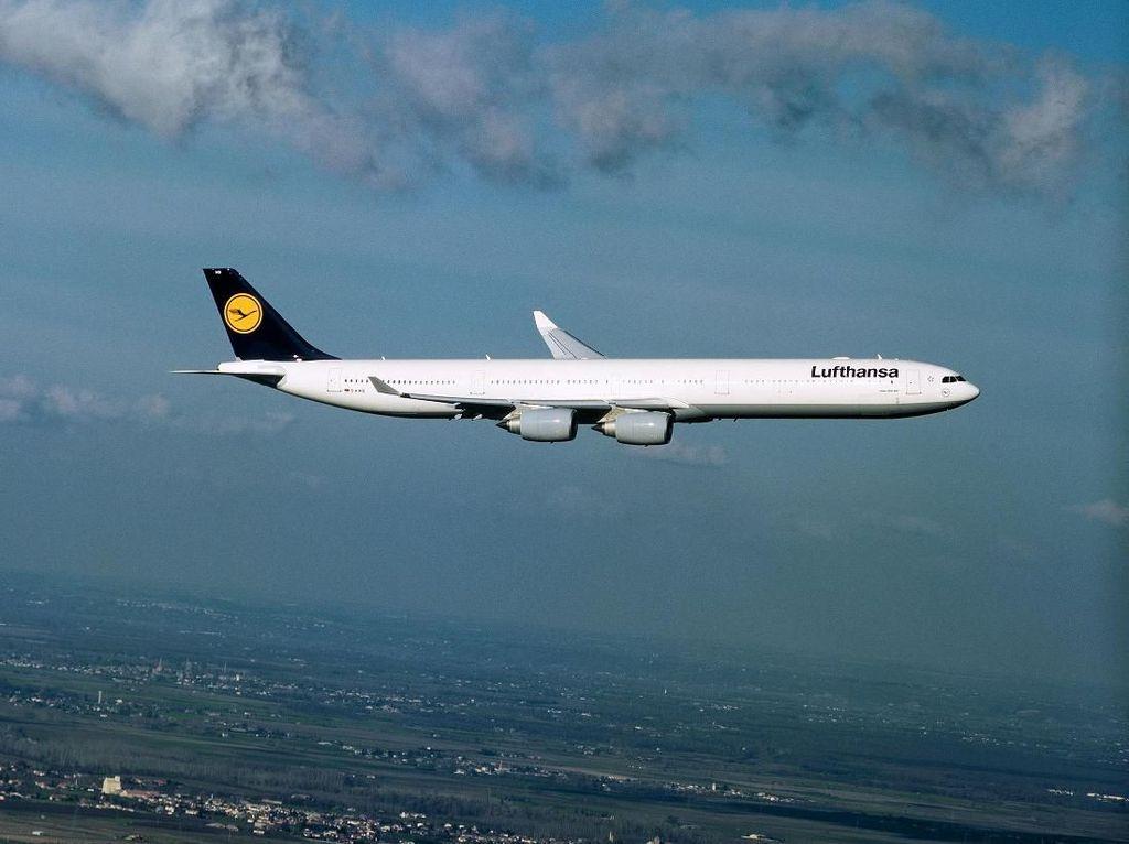 Gantungan kunci dari badan pesawat Lufthansa (CNN/Lufthansa)