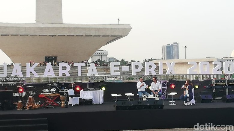 Pengumuman Jakarta menjadi tuan rumah Formula E di Monas Foto: Rizki Pratama