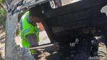 Sebuah Pikap di Ponorogo Terbakar Karena Korsleting Listrik