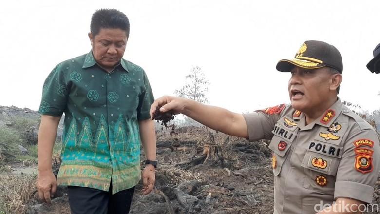 Polda Sumsel Pastikan Terus Buru Pelaku Pembakaran Hutan