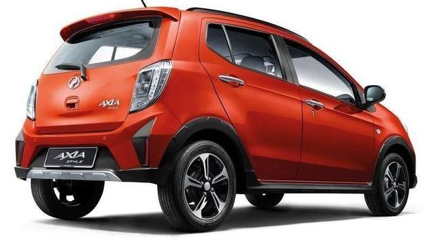 Tampak belakang Perodua Axia 2019
