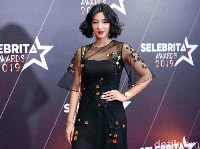Fanny Ghassani saat ditemui di acara Selebrita Awards 2019.