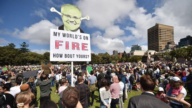 Puluhan Ribu Anak Australia Buka Demo Perubahan Iklim Global