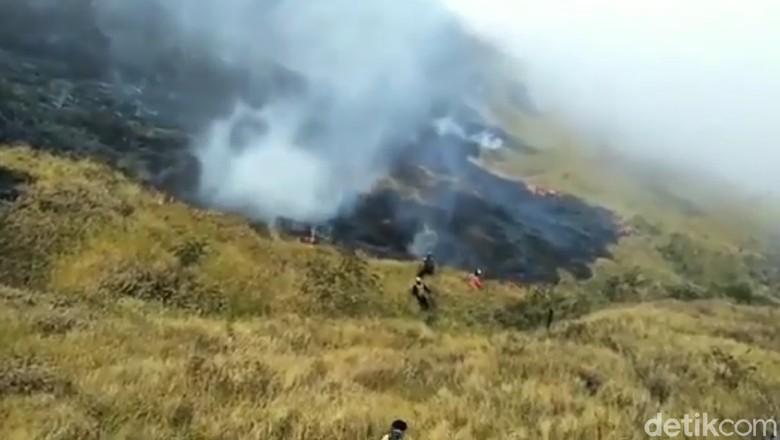 Ini Kendala Pemadaman Kebakaran di Gunung Slamet
