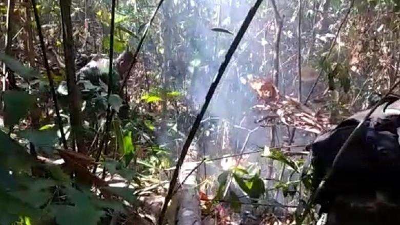 Hutan Lindung Gunung Klabat Terbakar