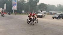 Kabut Asap Tebal, Balap Sepeda Tour de Siak Riau Dihentikan