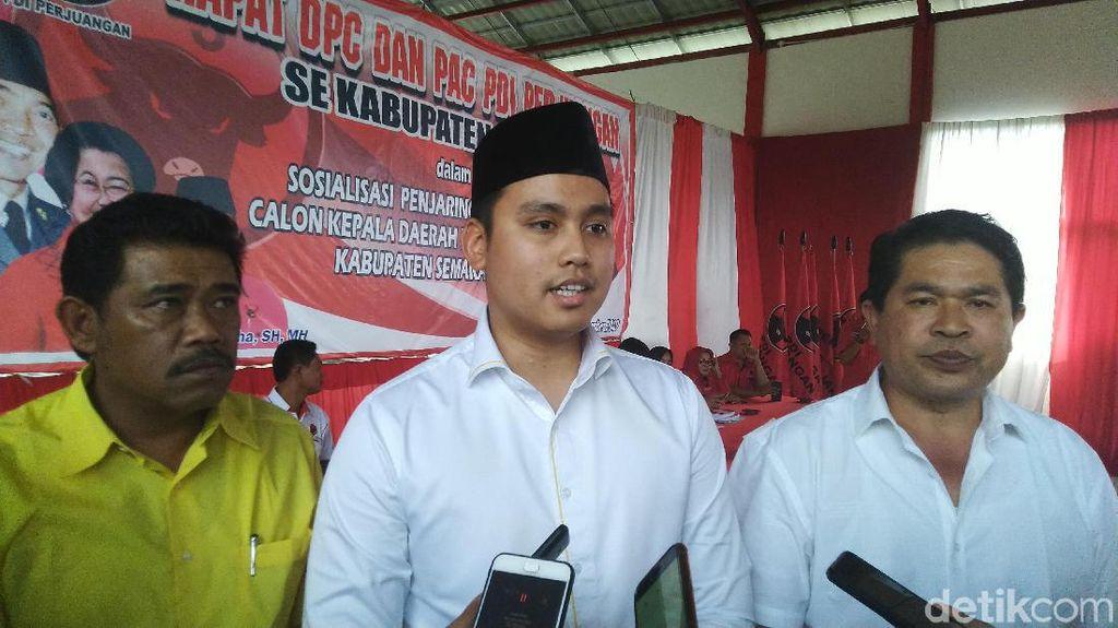 Suami Chacha Frederica Ikut Penjaringan Cawabup Semarang Lewat PDIP